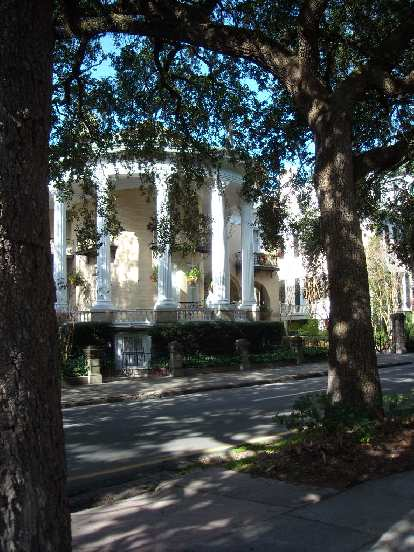 Gotta love Southern architecture.  This is a home just outside of Forsythe Park in Savannah, GA.