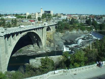 The view of the Spokane Falls from the 3rd floor of the downtown library was very nice.