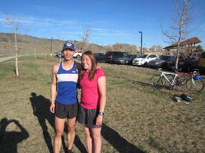 Together after the race.  You can see our bikes in the background too.