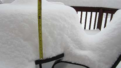 Day 2: Up to 14 inches of snow so far.