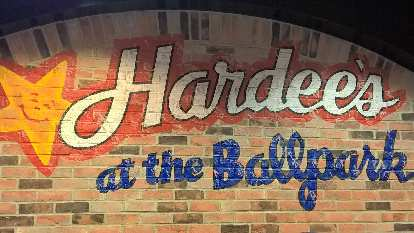 Wall at Hardee's at the Ballpark in St. Louis.
