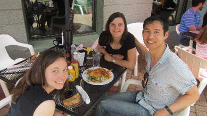 Maureen, Eli, Felix Creekside Cafe and Grill
