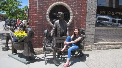 Maureen, statues, downtown Steamboat Springs