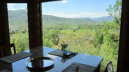 View of Steamboat Springs from dining room of Brad's townhouse.