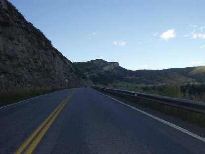 The approach to Steamboat Springs along US-40 is largely prairie-land until here, just a few miles to town.