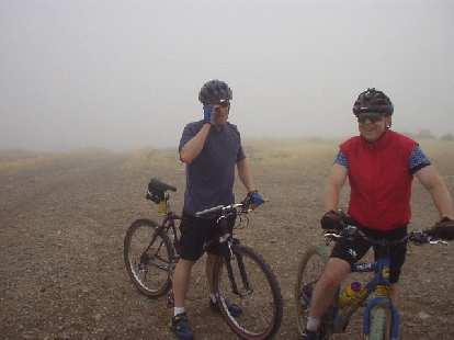 It was even foggier at the top of Montebello.