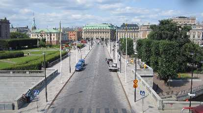 Norrbro Street, as seen from the Royal Palace.
