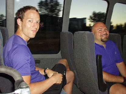 Kevin and Mike on the bus.  As you can imagine, there was plenty of room for the three of us AND our bikes!