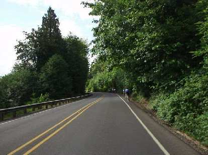 [Day 2, Mile 148, 9:23 a.m.] There were a lot of rolling hills the second day, but nothing steep or long.
