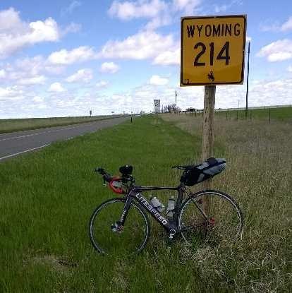 black 2010 Litespeed Archon C2, yellow Wyoming 214 sign
