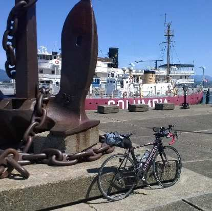 black 2010 Litespeed Archon C2, anchor at Maritime Museum, Astoria, Oregon, Columbia ship