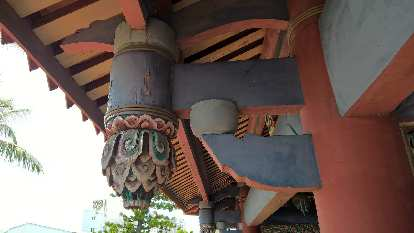 Roof detail of Fort Provintia (Chihkan Tower) in Tainan City, Taiwan.