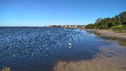 The northerly view from Wesley S. Henry Community Pier in Palm Harbor, Florida.