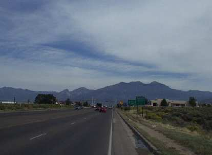 The mountains west of Taos as viewed from east of town.