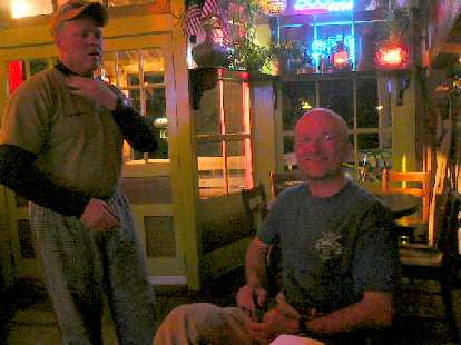 Day 13: In Atlantic City, WY, I met Clif and Andrew (seated), two motorcycle tourists at the Mercantile diner.  They were riding south-to-north so we warned each other on what to expect for our respective directions.
