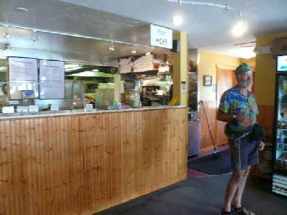 Day 16: In Steamboat Springs, a local cyclist named Paulie generously bought me bagels from Bagel Works.