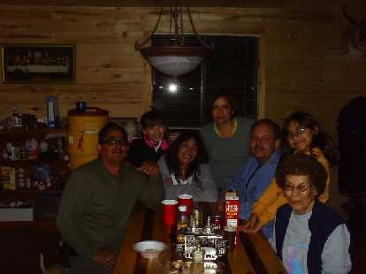 Day 21: Their entire family, including Jean (left), Judy (3rd from left), Judy's mom (far right).