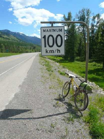 [Day 2, Mile ~145] Don't worry, I didn't break the speed limit here in Sparwood, BC.