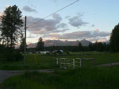 [Day 2, Mile 187] Twilight at Baynes Lake, BC.