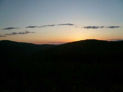 [Day 6, Mile 540] Sunset over the Helena National Forest in Montana.