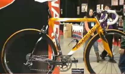 Oscar Pereiro's 2006 Tour de France-winning Pinarello Dogma-FPX.