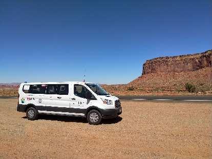 Team Sea to See's Command Vehicle in Arizona.