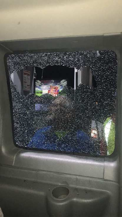 On the Colorado/Kansas border around midnight, Team Sea to See got caught in a hail storm that took out one of the RV's windows!