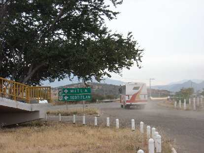 Teotitlan del Valle is about an hour bus ride east of Oaxaca.