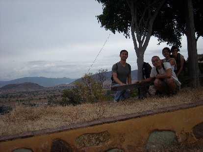 Felix, Widhar, Ojudju, and Sarah outside of Casa Sagrada.