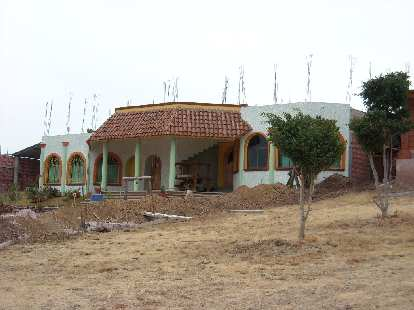 A house on the outskirts of Teotitlan del Valle.