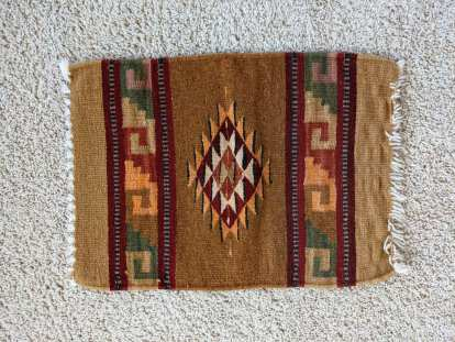 A brown rug I purchased in Teotitlan del Valle.