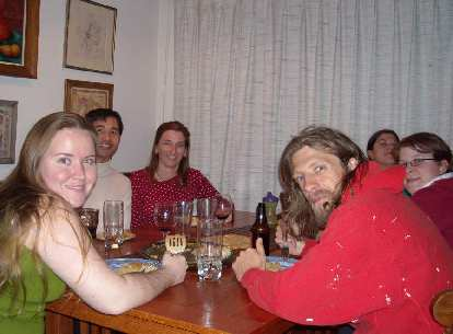 Dessert time!  From left to right: Sei, Felix, Tori, Nick, Dana, and Corinna.
