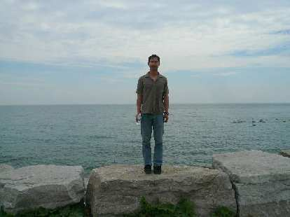 Felix Wong in front of Lake Ontario.