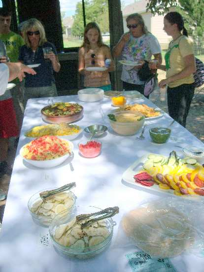 A nice spread of organic goodness whipped up by Scott Hapner of Chef Happy's Gourmet.
