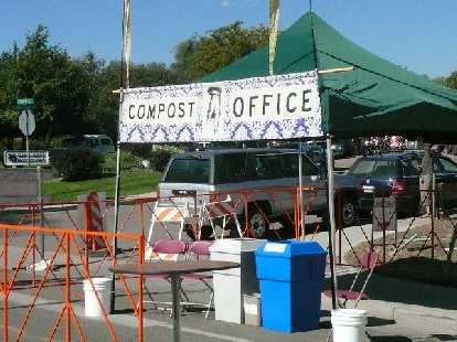 New Belgium Brewery is a very eco-friendly company.  Here is a compost office.