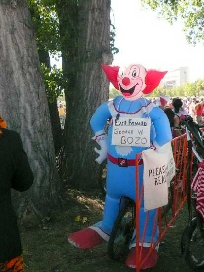 Even the President of the United States was here!  George W. Bozo