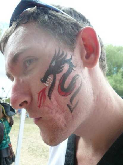 The dragon design on Tim.