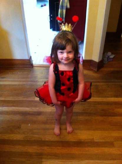 Zoe was very cute as a ladybug.