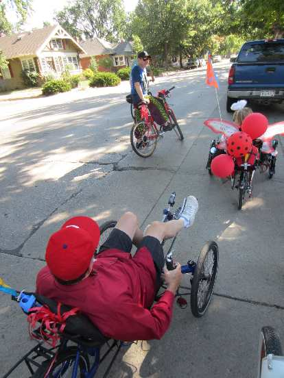 Steven and Karie rode racing trikes.