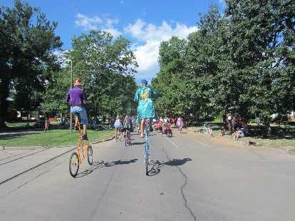 Tall bikes.