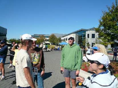 Steve, Doug, Russ and Alyssa chatting after the race.
