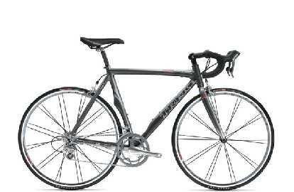 Also heavily promoted was Trek's new line of Madone road bikes.  This one -- the Madone 5.2 -- uses Trek's proprietary OCLV 110 carbon fiber.