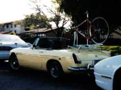 During the winter quarter of my junior year in college as my ME103 final project, I made a bike rack for my little MG so we could all go together to my cycling adventures.