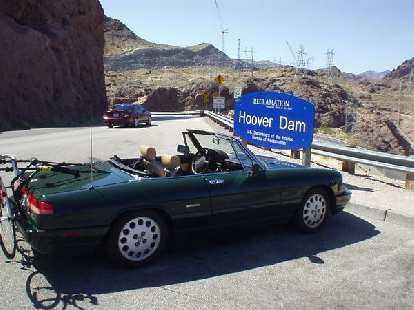 At the Hoover Dam en route to Las Vegas from Phoenix.