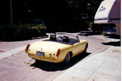 [August 9, 1996] While living in Palo Alto for the summer, I spent a whole weekend removing Goldie's trim so she could be repainted.  Here she is back from her new paint job.