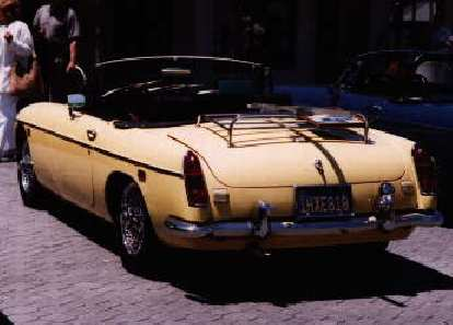 [May 30, 1998] Goldie won 3rd place in the chrome-bumpered MGB category at the MGs at Jack London Square car show.