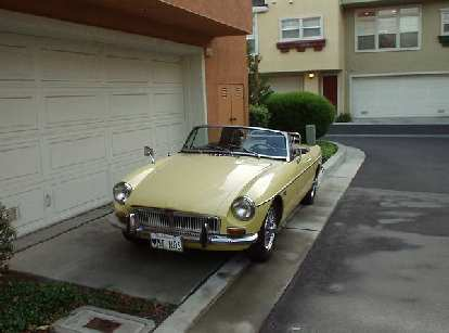 "[June 6, 2003] Goldie in what I dubbed ""sports car alley"" in Fremont, since it seemed like everyone I lived around had sports cars!"