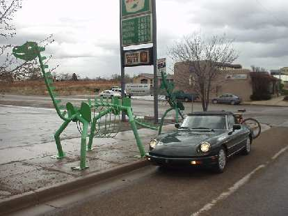 The Alfa and some dinosaurs in Blanding, where there's even a dinosaur museum.