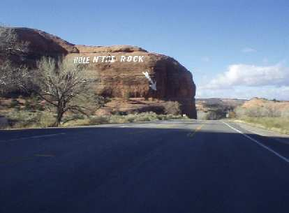"""Eastern Utah, down US-193, was another surprise.  South of Moab there was this landmark named """"Hole in the Rock..."""""""