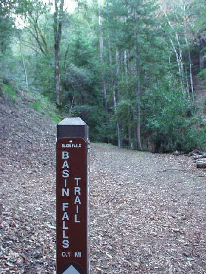 One of the trails we took was the Basin Falls Trail.